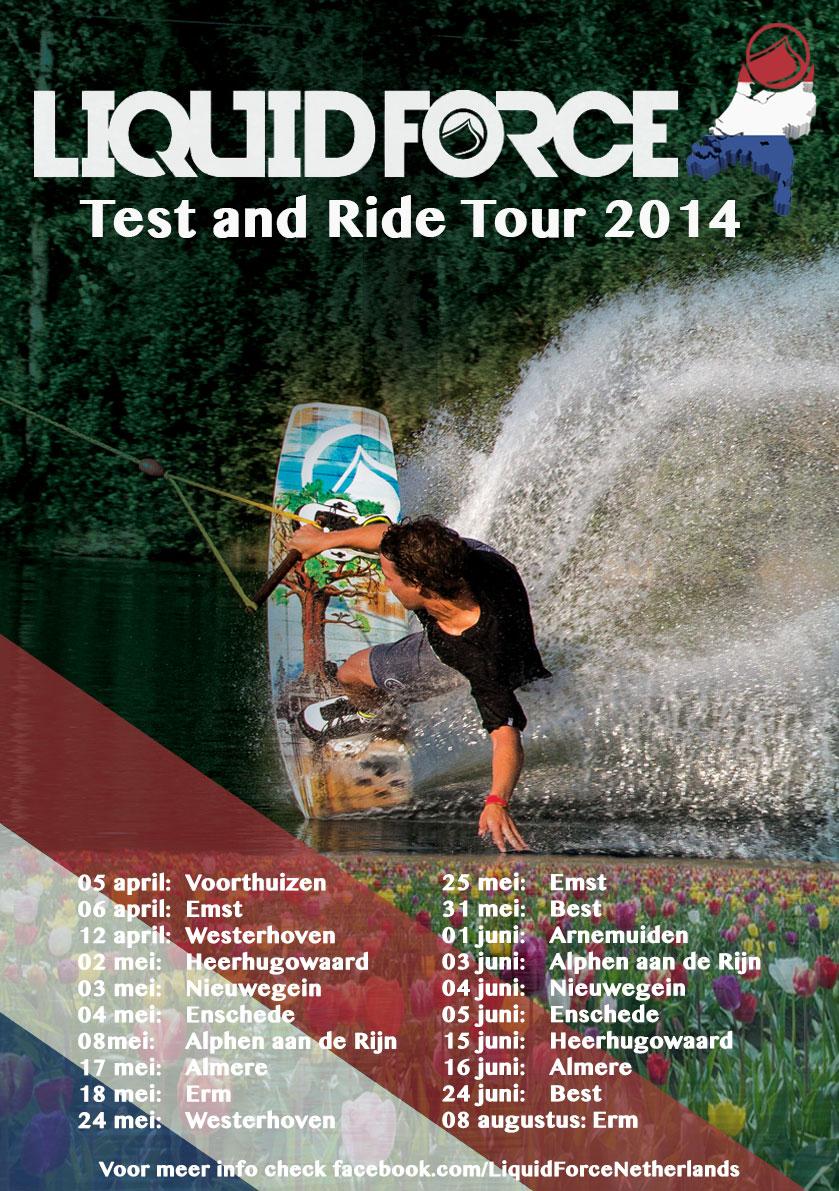 Probeer Liquid Force boards tijdens Test & Ride Tour