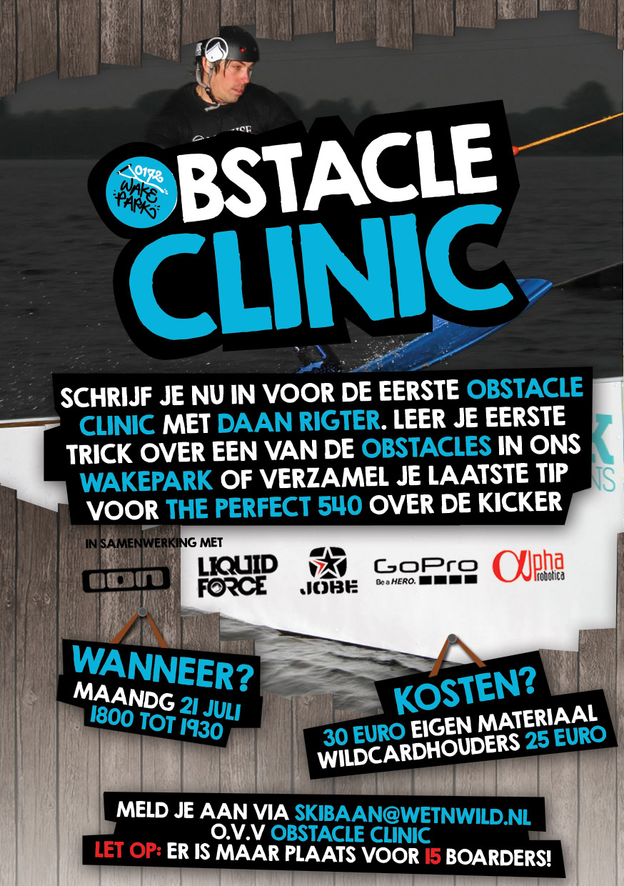 wet n wild obstacle clinic 21 juli