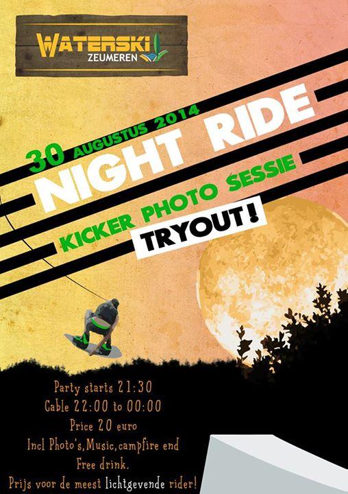 Night Ride met fotoshoot bij Waterski Zeumeren