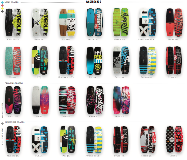 2016 Hyperlite Wakeboards