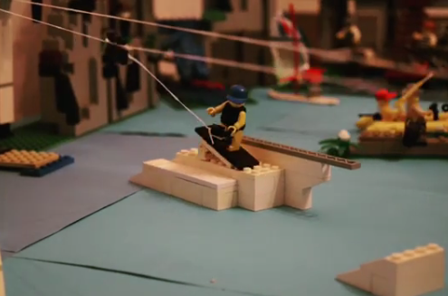 Lego stop motion wakeboard