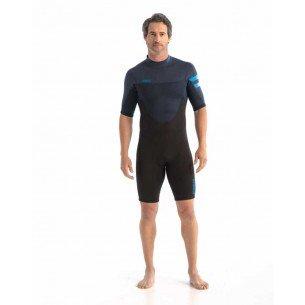 2021 Jobe Perth 3/2mm Shorty Wetsuit Men Blue