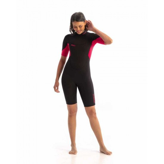 2021 Jobe Sofia 3/2mm Shorty Wetsuit Women Hot Pink