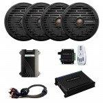 Roswell Marine Audio R1 6.5''  In-Boat Speaker & RGB Controller Package - Black