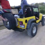 wakeboarden jeep