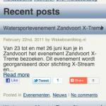 Wakeboardblog mobiele site