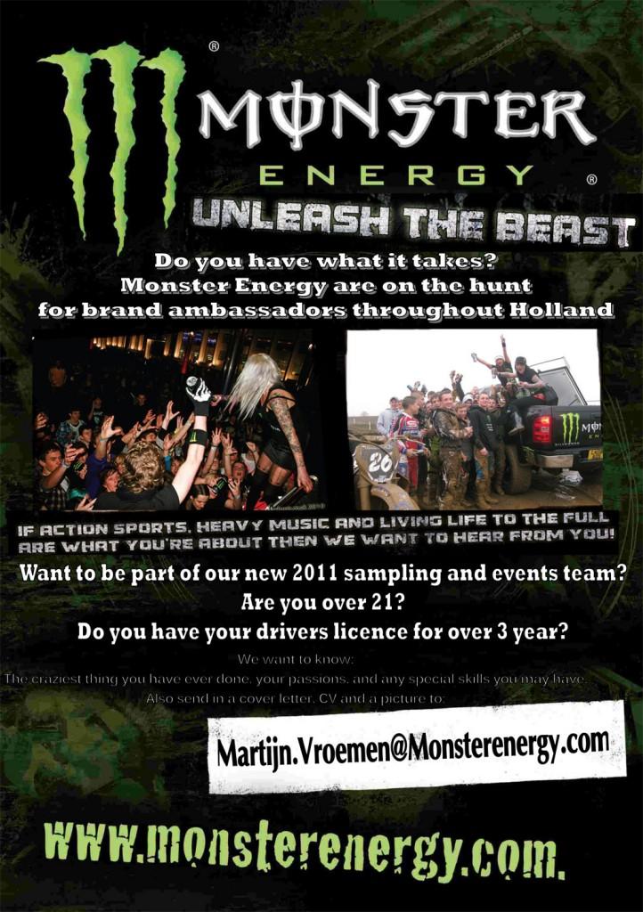 Werken bij Monster Energy