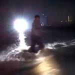 Rijn overstroomd in Dusseldorf